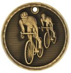 3-D Medal -Bicycling 3-D Series Medal Awards
