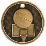 3-D Medal -Basketball 3-D Series Medal Awards