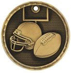 3-D Medal -Football 3-D Series Medal Awards