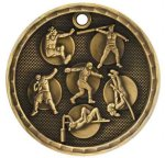 3-D Medal -Track and Field Event  3-D Series Medal Awards