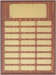 Perpetual Plaque Assembled with Satin Gold Plates Achievement Awards