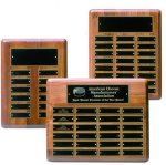 Solid Walnut Perpetual Plaque Achievement Awards