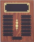 Perpetual Plaque Assembled with Black Plates Achievement Awards