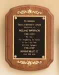 American Walnut Plaque with Decorative Accents Achievement Awards