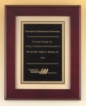 Rosewood Piano Finish Plaque with Florentine Plate Achievement Awards