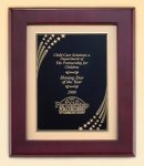 Rosewood Piano Finish Frame with Brass Plate Achievement Awards
