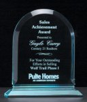 Arch Series Acrylic Award on Acrylic Base. Achievement Awards