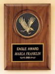 American Walnut Plaque with Eagle Casting Achievement Awards