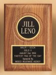 American Walnut Plaque with Routed Disk Area Achievement Awards