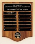 American Walnut Perpetual Plaque with Medallion Achievement Awards