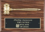 Genuine Walnut Gavel Plaque Boss Gift Awards