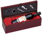 Wine Box With Red Satin Lining Boss Gift Awards