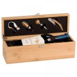 Single Wine Box With Tools -Bamboo Boss Gift Awards