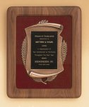 American Walnut Frame with Antique Bronze Casting Cast Relief Plaques