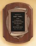 American Walnut Plaque with Antique Bronze Frame Cast Relief Plaques
