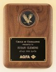 American Walnut Plaque with Eagle Medallion Cast Relief Plaques