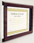 Cherry Finish Slide-in Certificate Plaque Certificate Holders