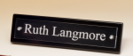 Black-Piano Finish Nameplate with Acrylic Engraving Plate Desk Wedge Name Plates
