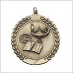 Die Cast Medal - Lamp of Knowledge Die Cast Medal Awards