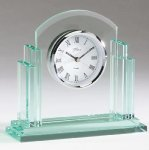 Glass Desk Clock Employee Awards