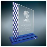 Blue Diamond Ice Unite Acryilc Employee Awards