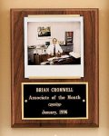 American Walnut Photo Plaque Employee Awards