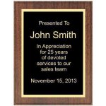 Walnut Recognition Plaque Employee Awards