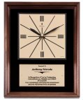 Genuine Walnut Clock Plaque Executive Gift Awards