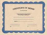 Certificate of Award Fill in the Blank Certificates