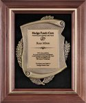 Genuine Walnut  Frame with Metal Casting on Black Velour Frame Plaques