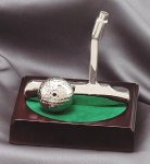 Putter and Ball On Wood Base Game Gifts