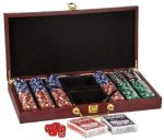 Rosewood Finish Card & Dice Set Game Gifts