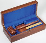 Gavel Plaque Set Gavel and Sounding Blocks
