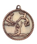 High Relief Medal -Gymnastics Female  High Relief Medallion Awards