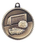 High Relief Medal -Soccer  High Relief Medallion Awards