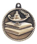 High Relief Medal -Lamp of Knowledge  High Relief Medallion Awards