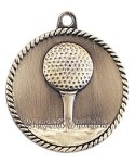 High Relief Medal -Golf  High Relief Medallion Awards