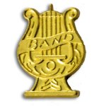 Band Chenille Letter Pin Lapel Pins