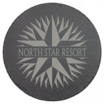 Black Slate Round Decor with Foam Pads Misc. Gift Awards