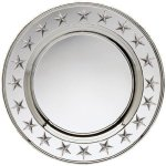 Round Plate Silver With Stars Patriotic Awards