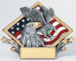 Resin Diamond Plate -Eagle Patriotic Awards