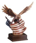 Eagle With Flag  Wing Span Patriotic Awards