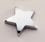 Chrome Star Paper Weight with Felt Bottom. Patriotic Awards