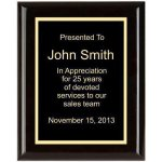 Piano Finish, Square, Black Piano Finish Plaques