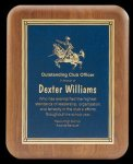 Plaque with Diamond Plate Award Recognition Plaques