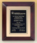 Cherry Finish Wood Frame Plaque Recognition Plaques