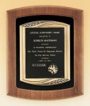 American Walnut Frame Plaque with Antique Bronze Frame Recognition Plaques