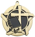 Religion Super Star Medal  Gold Religious Awards