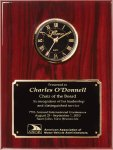 Genuine Rosewood Piano Finish Clock Plaque Sales Awards