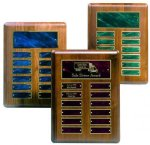 Perpetual Plaque with Blue Plates Sales Awards